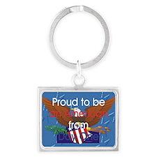 American Pride Landscape Keychain