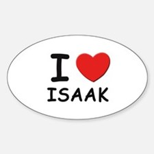I love Isaak Oval Decal