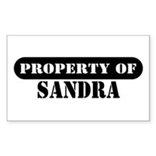 Property of Sandra Rectangle Decal