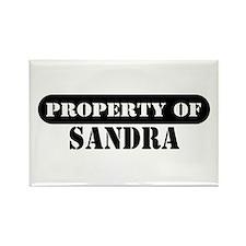 Property of Sandra Rectangle Magnet