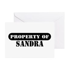 Property of Sandra Greeting Cards (Pk of 10)
