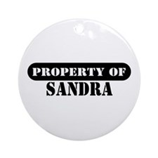 Property of Sandra Ornament (Round)