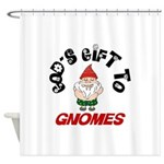 GODSGIFTGNOMES1.png Shower Curtain