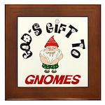 GODSGIFTGNOMES1.png Framed Tile