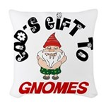 GODSGIFTGNOMES1.png Woven Throw Pillow