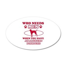 Funny American Foxhound lover designs Wall Decal