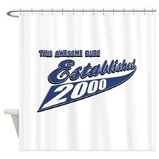 Established in 2000 Shower Curtain