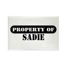Property of Sadie Rectangle Magnet