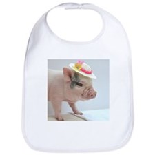 Micro pig with Summer Hat Bib