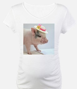 Micro pig with Summer Hat Shirt