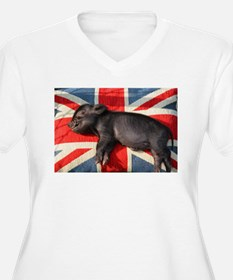 Micro pig chilling Plus Size T-Shirt