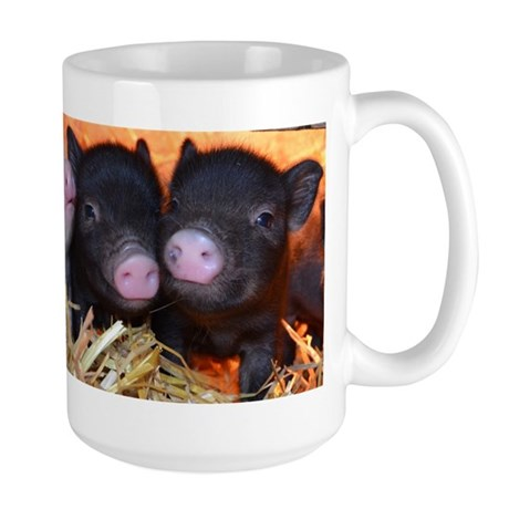 3 little micro pigs mug by petpiggiesmicropigshop for Mug isotherme micro ondable
