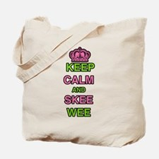 Keep Calm and Skee Wee Tote Bag