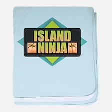 Island Ninja baby blanket