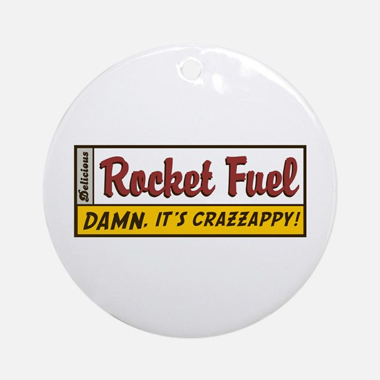 Rocket Fuel Ornament (Round)