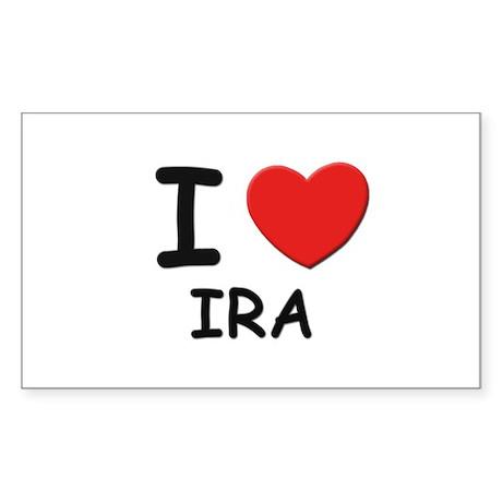 I love Ira Rectangle Sticker