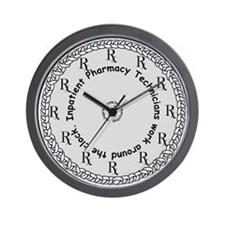 Inpatient Pharmacy Technician Wall Clock
