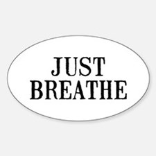 Just Breathe Sticker (Oval)
