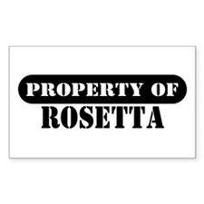 Property of Rosetta Rectangle Decal