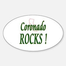 Coronado Rocks ! Oval Decal