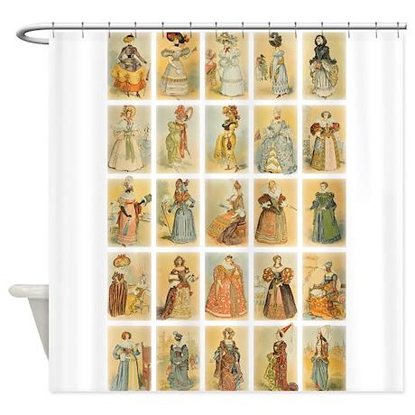Vintage Paris Fashion Shower Curtain By Vintageleveldesigns