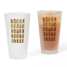Vintage Paris Fashion Drinking Glass