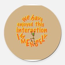 interaction Round Car Magnet