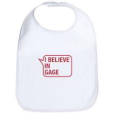 I Believe In Gage Bib