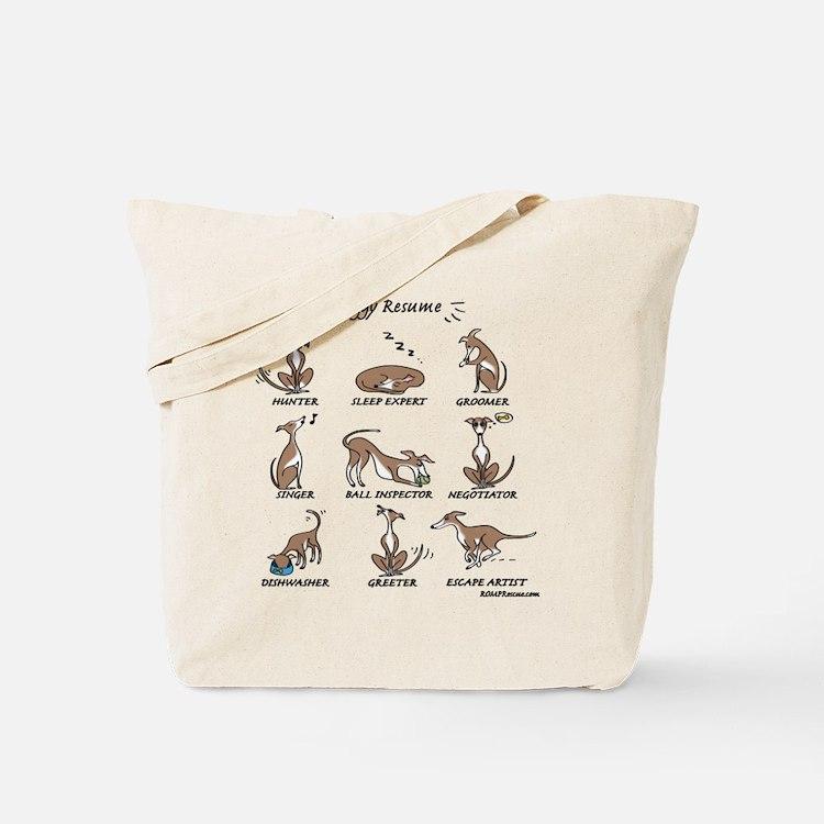 Iggy Resume (light) Tote Bag