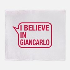 I Believe In Giancarlo Throw Blanket