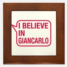 I Believe In Giancarlo Framed Tile