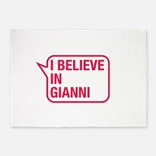 I Believe In Gianni 5'x7'Area Rug