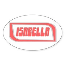 """Isabella"" Oval Decal"