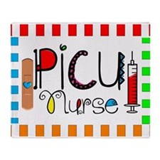 PICU Nurse Throw Blanket