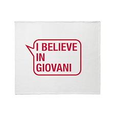 I Believe In Giovani Throw Blanket