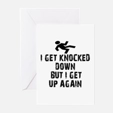 I Get Knocked Down Greeting Cards (Pk of 10)