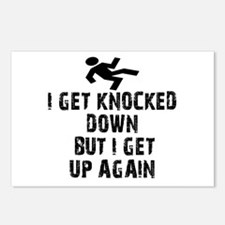 I Get Knocked Down Postcards (Package of 8)