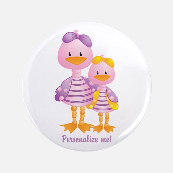 """Big Sis Little Sis Ducks - Personlalize 3.5"""" Butto"""