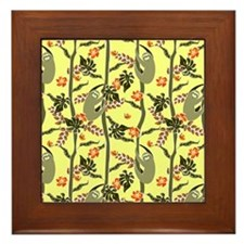Tropical Sloth Framed Tile