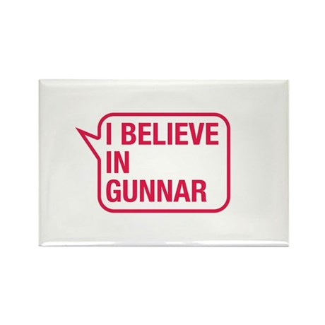I Believe In Gunnar Rectangle Magnet