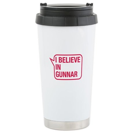 I Believe In Gunnar Travel Mug