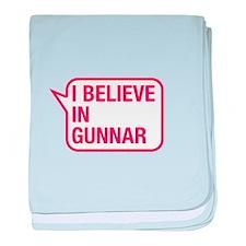 I Believe In Gunnar baby blanket