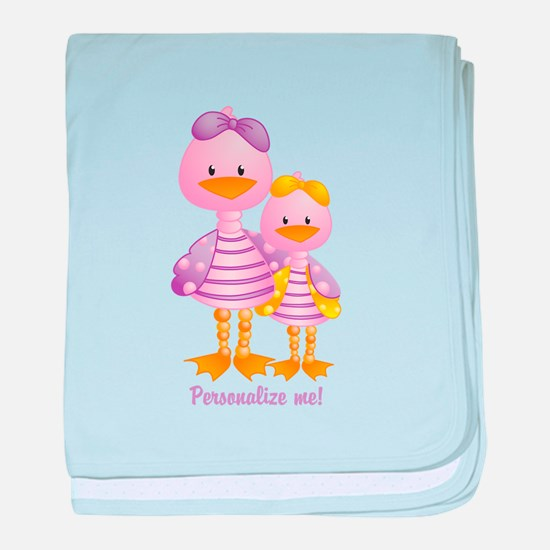 Big Sis Little Sis Ducks - Personlalize baby blank