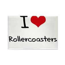 I Love Rollercoasters Rectangle Magnet