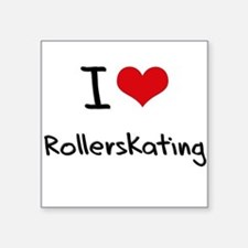 I Love Rollerskating Sticker