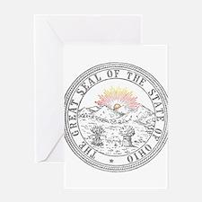 Vintage Ohio State Seal Greeting Card