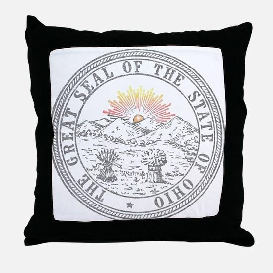 Vintage Ohio State Seal Throw Pillow