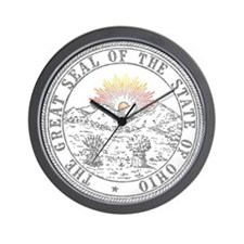 Vintage Ohio State Seal Wall Clock