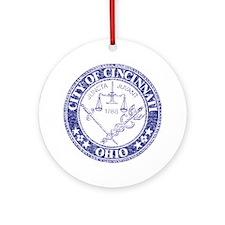 Vintage Cincinnati Seal Ornament (Round)