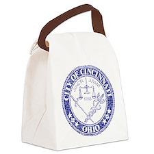 Vintage Cincinnati Seal Canvas Lunch Bag